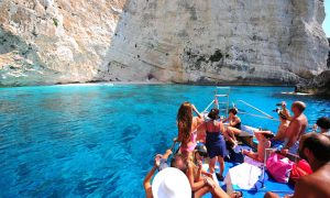 Secluded beach in Zakynthos