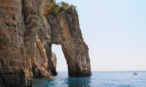Natural arch in Keri Caves, Zakynthos