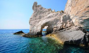 Rock formation near Shipwreck beach Zakynthos