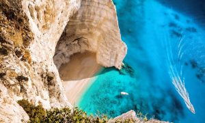 Beach near Navagio in Zakynthos